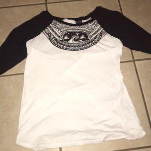 Black and white Moana tunic